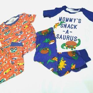 18- 24 month pajamas short sleeve & pants